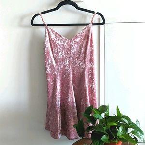Crushed velvet dress NWOT